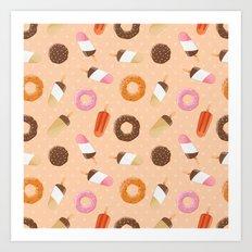 Ice cream and donuts 002 Art Print