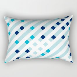 Artis 1.0, No.17 in Warm Blue Rectangular Pillow