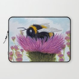 Bumblebee on a Thistle Laptop Sleeve