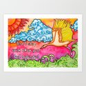 Watercolor Doodle Art | Don't Stop by coloringiship