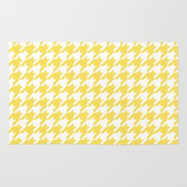 Houndstooth: Canary Yellow & White Rug