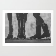 boots hooves + bows Art Print