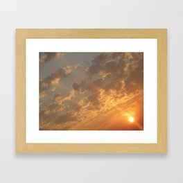 Sun in a corner Framed Art Print
