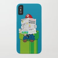 mario iPhone & iPod Cases featuring Mario by Altay