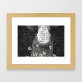 Summer in Pain  Framed Art Print