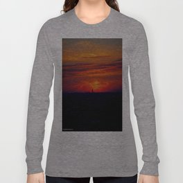 Chicago Sunset, February 5, 2015 (Chicago Sunrise/Sunset Collection) Long Sleeve T-shirt