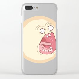 Rick and Morty Screaming Sun Clear iPhone Case