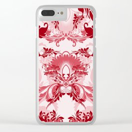 floral ornaments pattern uwi Clear iPhone Case