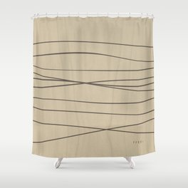 Smooth Stripes Shower Curtain