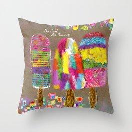 So Cool So Sweet Throw Pillow