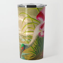 Roseate Spoonbill Bird pink Travel Mug
