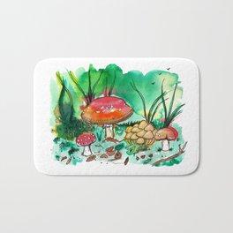 Toadstool Mushroom Fairy Land Bath Mat