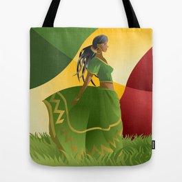 african rastafarian girl Tote Bag