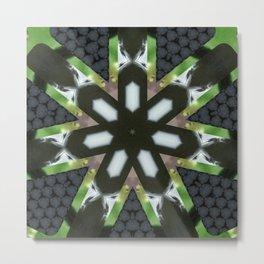 Amber Shroom Factals Mandala 2 Metal Print