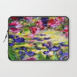 Purple Iris Garden Laptop Sleeve