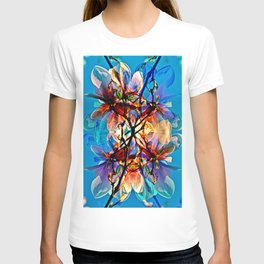 Blue Floral Poetry T-shirt