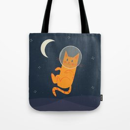 Floating Space Cat Tote Bag
