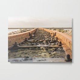Seaside Railway Metal Print