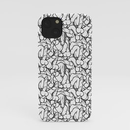 Schlong Song White and Grey, Penis Party iPhone Case