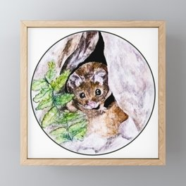 Field Mouse Framed Mini Art Print