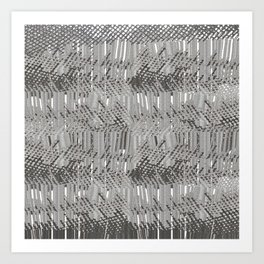 Gray abstract background Art Print