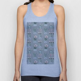 Potted Cactus Plants Gray Unisex Tank Top