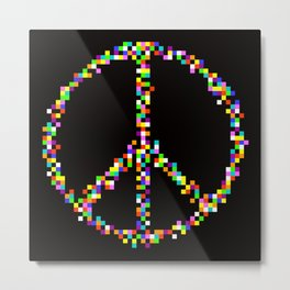A Peace of Retro Metal Print