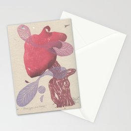 There goes my heart Stationery Cards