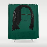 snape Shower Curtains featuring Snape and you by Ally Simmons
