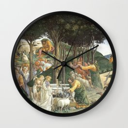 "Sandro Botticelli ""Youth of Moses"", Sistine Chapel. Wall Clock"
