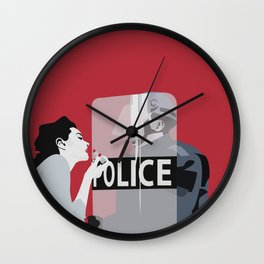 Red woman n3 Wall Clock