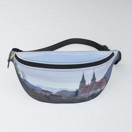 Basilica of Covadonga in the mountains, Spain Fanny Pack