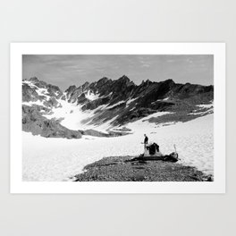 Anderson Glacier, Olympic National Park Art Print