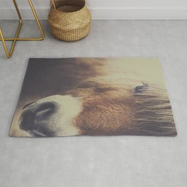 The curious girl Rug