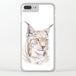 Lynx - Colored Pencil Clear iPhone Case