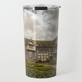 Cloudy Spring Day in an Old English Yard Travel Mug