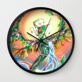 Wooden Bird of Paradise  Wall Clock