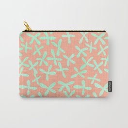 Sweet Life Firefly Peach Coral + Mint Meringue Carry-All Pouch