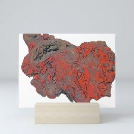 Ironstone Sedimentary Rock Deposited Ferruginous Sediment Replacement Compound Mini Art Print
