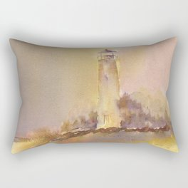 A golden, Crisp Point Rectangular Pillow