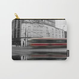 Ride the Rocket - Black and White / Color Pop Photograph Carry-All Pouch