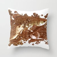 giants Throw Pillows featuring Lucky Giants by KZjl