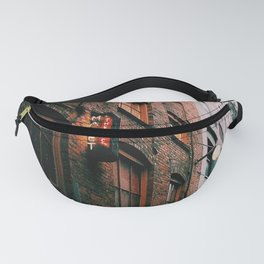 Post Alley in the Rain Fanny Pack