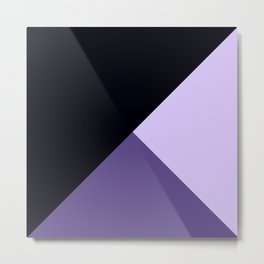 Trinity Color Block Ultra Violet Metal Print
