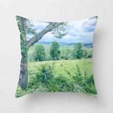 Never Ending Field Throw Pillow