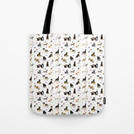 Various Dogs Pattern Tote Bag