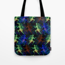 Watercolor women runner pattern on dark background Tote Bag