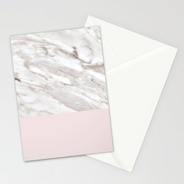Blush and taupe marble Stationery Cards