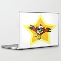 digimon Laptop & iPad Skins featuring Hawkmon star by Taurustiger86