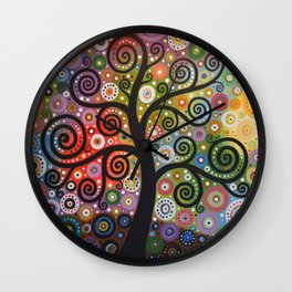 Abstract Art Landscape Original Painting ... Tree of Wishes Wall Clock